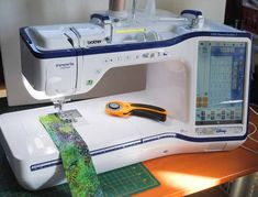 This week on QUILTsocial I'm trying out the new THE Dream Machine 2 from Brother. I thought that my new Brother NQ900 was pretty slick but this new machine is absolutely amazing! The first thing you notice with this machine is its size. The box... Brother Embroidery Machine, Sewing Machine Embroidery, Free Motion Embroidery, Free Motion Quilting, Machine Quilting, Embroidery Stitches, Embroidery Designs, Brother Dream Machine, Brother Sewing Machines
