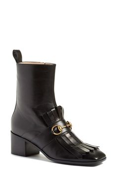 Gucci 'Polly' Kiltie Bootie (Women) available at #Nordstrom