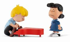 Lucy & Schroeder on Piano Peanuts Scenery Pack Schleich 2016 | www.minizoo.com.au