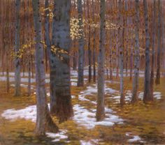Autumn Snow | oil on canvas | 41 x 46"