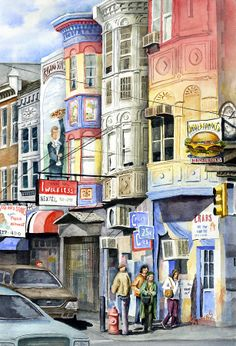 South Street Painting by Sam Sidders - South Street Fine Art Prints and Posters for Sale