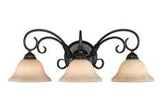 Golden Lighting Homestead 3-Light Vanity - Bronze GL-8606-BA3-RBZ-TEA