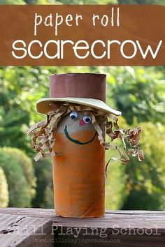 Toilet Paper Roll Scarecrow Fall Craft for Kids from Still Playing School