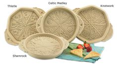 shortbread is my specialty!  I'd love to make pretty shortbread with any of these....but probably the knotwork or the 'medly' one would be what I'd want most