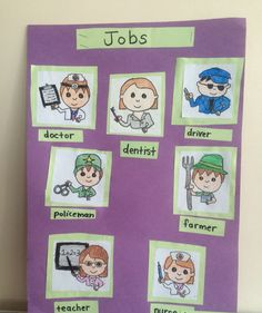 Jobs poster for kids