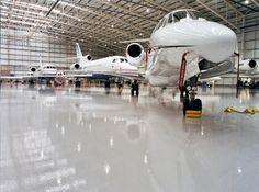 Epoxy floors for aviation
