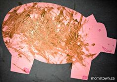 Pig in the mud craft – a great farm themed painting activity for toddlers Pig Crafts, Farm Crafts, Animal Crafts, Birthday Party Games For Kids, Farm Birthday, Classroom Art Projects, Craft Projects For Kids, Creative Thinking, Creative Kids