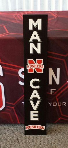Husker Caveman Signs : Huskers man cave sign nebraska merchandise