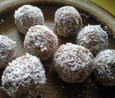 Rezept Schwedische Kokos-Haferbällchen (Kokosbollar) von albrici - Rezept der Kategorie Backen süß