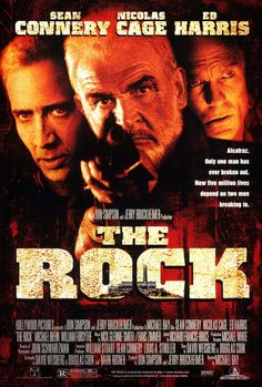 The Rock 1996 A renegade general and his group of U.S. Marines take over Alcatraz and threaten San Francisco Bay with biological weapons. A chemical weapons specialist and the only man to have ever escaped from the Rock attempt to prevent chaos.