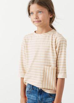 Camiseta rayas bolsillo
