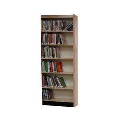 "W.C. Heller Open Back Single Face Shelf 82"" Standard Bookcase Size: 82"" H x 37.75"" W x 8"" D, Finish: Dark Mahogany"