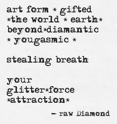 www.rawdiamondfacets.com #oneness #consciousness #acoustic #healing #glitter #poetry #awareness #rawdiamond #glitterway #golden #healing #source