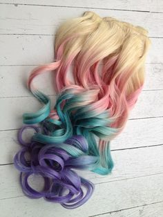 How I want my hair done. I want the turquoise color at the ends of my hair