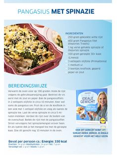 Pangasius of tilapia met spinazie, rijst en kaas. Echt n lekker maaltje