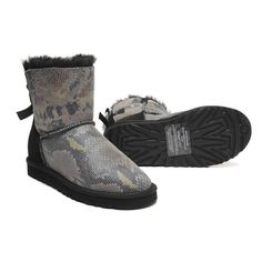 UGG mini Bailey bow boots snake print NWT Brand new! Authentic, come with box. UGG Shoes Winter & Rain Boots