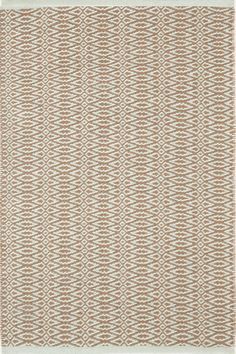 Fair Isle Ocean/Coffee Cotton  Woven  Rug