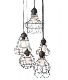 Wire pendant lights from Cape Cod Designs