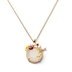 Find More Chain Necklaces Information about 2016 Famous Brand Jewelry Les Dragonfly flower ladybird gem necklace, enamel jewelry necklace, Nereides pendant necklace,High Quality pendant heart necklace,China pendant pearl necklace Suppliers, Cheap necklace usb from Floret Jewelry on Aliexpress.com