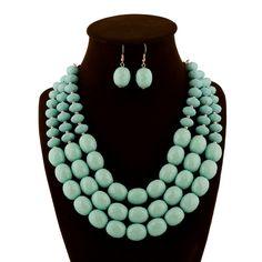 Light Green Beaded Jewelry Set
