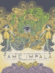 Tame Impala #gigposter (variant edition) by Status Serigraph.