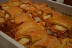 The dangerously decadent Mountain Dew apple dumplings recipe can be hard to put down. And with only six ingredients, it's dangerously easy to make! Apple Dumpling Recipe, Apple Dumplings, Apple Recipes Easy, Fall Snacks, Mountain Dew, Cobbler, Apples, Sweet Treats, Deserts