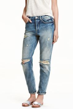 Ripped Knee Boyfriend Jeans from H&M R389,00