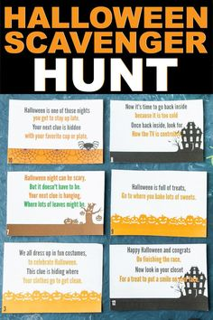 This Printable Halloween scavenger hunt is perfect for kids or even for teens! Play during a classroom, neighborhood, or even preschool party! Tons of free clues and riddles to use - definitely one of the best Halloween ideas ever!