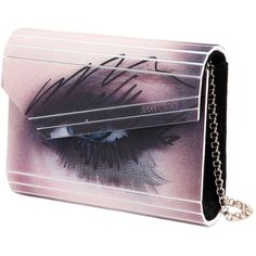 JIMMY CHOO Candy Winkling Eye Acrylic Clutch (10,430 SVC) ❤ liked on Polyvore featuring bags, handbags, clutches, acrylic clutches, purple purse, acrylic purse, jimmy choo clutches and jimmy choo handbag