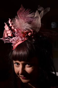 I know this is far into Bjork territory but I would LOVE to rock this  Gorgeous Pink Galleon Ship Fascinator Hat by ProfMaelstromme