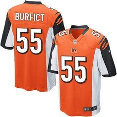 Nike Limited Vontaze Burfict Orange Youth Jersey - Cincinnati Bengals #55 NFL Alternate