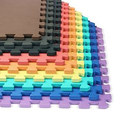 We Sell Mats Premium Foam Interlocking anti-fatigue tiles great for gyms, PX90, Insanity, Pilates, Yoga, aerobics, cardio, trade shows, kids payrooms and more.