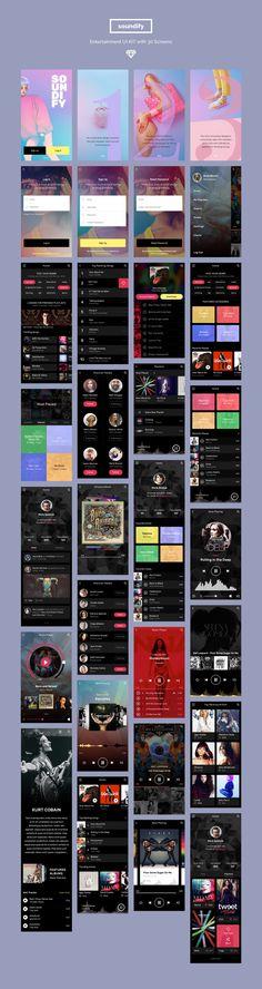 5 Mobile UI Kit Creative Bundle