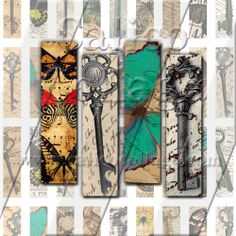 NEW Butterflies & Keys  Instant Download by calicocollage on Etsy, $4.15