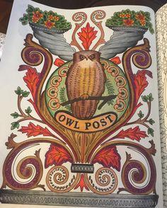 #harrypottercolouringbook #adultcoloringbook #owlpost #harrypotter #harrypotterworld #harrypottercoloringbook