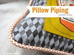 Pillow Piping Made Easy - The Sewing Loft