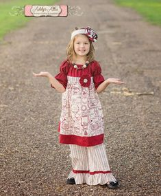 Christmas Outfit Peasant Dress Christmas Dress by AddysAtticOnEtsy