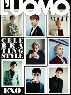 [Vyrl] SMTOWN_EN : #EXO covers Italian fashion magazine L'UOMO VOGUE's December Issue. E