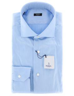 Barba Napoli Light Blue Shirt - 16 US / 41 EU. Click here for more Barba Napoli Men's Shirts http://www.shopthefinest.com/nsearch.aspx?Brand=Barba%20Napoli