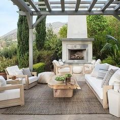 Outdoor Patio Space Inspiration   Gray Wash Wood Pergola Element Add So  Much Interest To The
