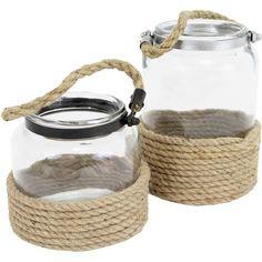 Hanging Nautical Glass Jars.