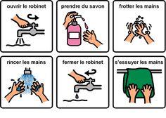 Lavage de mains                                                                                                                                                      Plus
