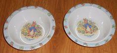 2 Eden Peter Rabbit Melamine Plastic Bowls Baby Cereal Toddler Beatrix Potter SE #Eden