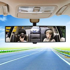 270mm-Wide-Convex-Interior-Clip-On-Rear-View-Mirror-for-Universal-Car-SUV-Truck