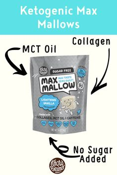 These keto marshmallows (Max Mallow) are made with collagen, Non-GMO MCT oil, and zero sugar. Its keto because it is low carb/high fat. Made with healthy fats so you can use it as fat fuel. Collagen Coffee, Collagen Protein, Brain Boosting Foods, Grass Fed Ghee, Mint Extract, Organic Chocolate, Coffee Tasting, Mct Oil, Marshmallows