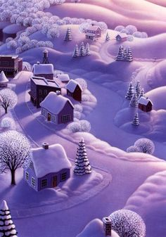 @PinFantasy - Winter wonderland - Naive art -by ROBIN MOLINE