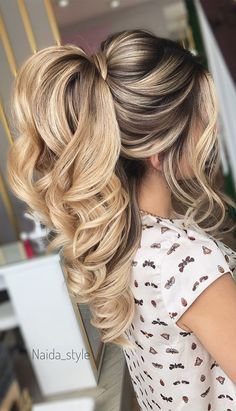 puff ponytail ponytail updos for weddings ponytail hairstyles ponytail hairstyles 2020 wedding ponytail bridal ponytail prom hairstyles prom ponytail wedding hairstyles ponytail textured ponytail simple hairstyle Wedding Ponytail Hairstyles, Bridal Ponytail, Ponytail Updo, Prom Hairstyles For Long Hair, Braided Hairstyles, Ponytail For Wedding, Prom Ponytails, Easy Homecoming Hairstyles, Long Hair Wedding Styles