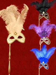 echt Venezianische Maske Burano Strass schwarz