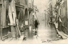 05arrt - Rue de Bievre - Inondation le 30 janvier 1909 - Cliquez sur la carte pour l'agrandir et en voir tous les détails