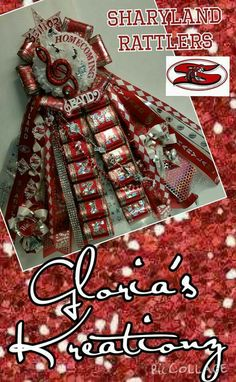 Single garder red,white,& bling Find me on Facebook: Gloria's Kreationz